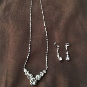 Icing by Claire's Rhinestone Necklace Earring Set